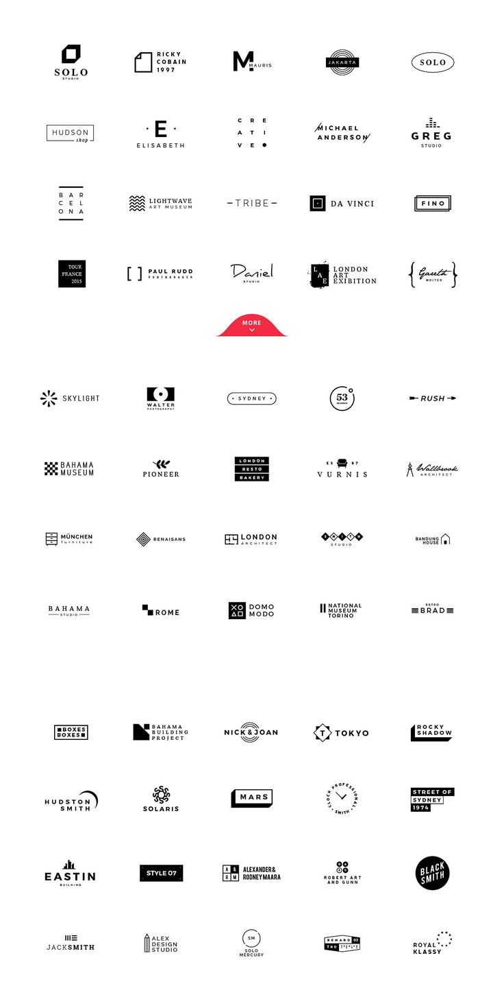 120 Minimalist Logos Pack by vuuuds on @creativemarket