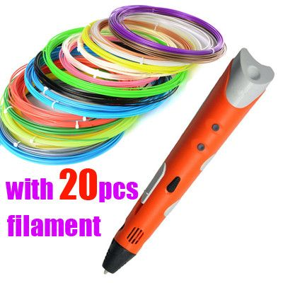Christmas gift Brand NEW First Generation DIY 3D Printer Pen For Kids AU/US/UK/EU plug With PLA Filament 1.75mm Free Shipping
