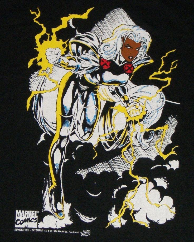 Vintage Marvel Storm Comic Images Shirt Large New | eBay
