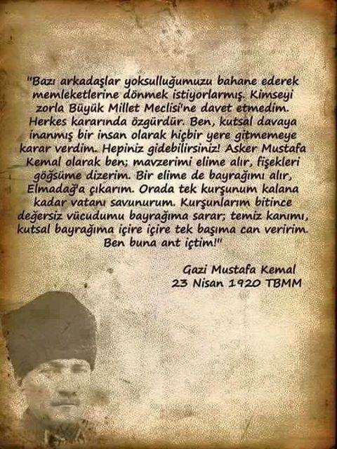 Atatürk 23 Nisan 1920: