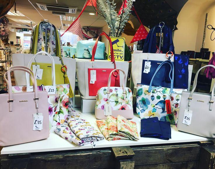 Summer brights!  Internal handbag display featuring David Jones Handbags. Mymagpiesnest.com