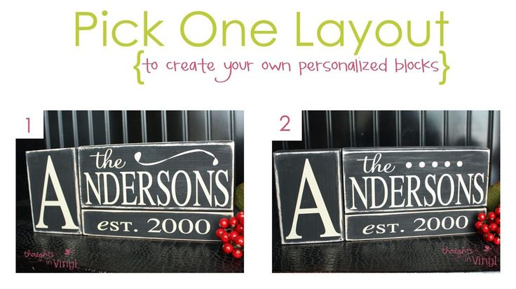 Personalized last name blocks.  Lots of fun wood crafts for sell on this website