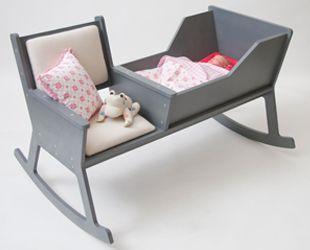 mecedora silla rocking chair diseño design decoración decoration cuna cradle nursery miraquechulo