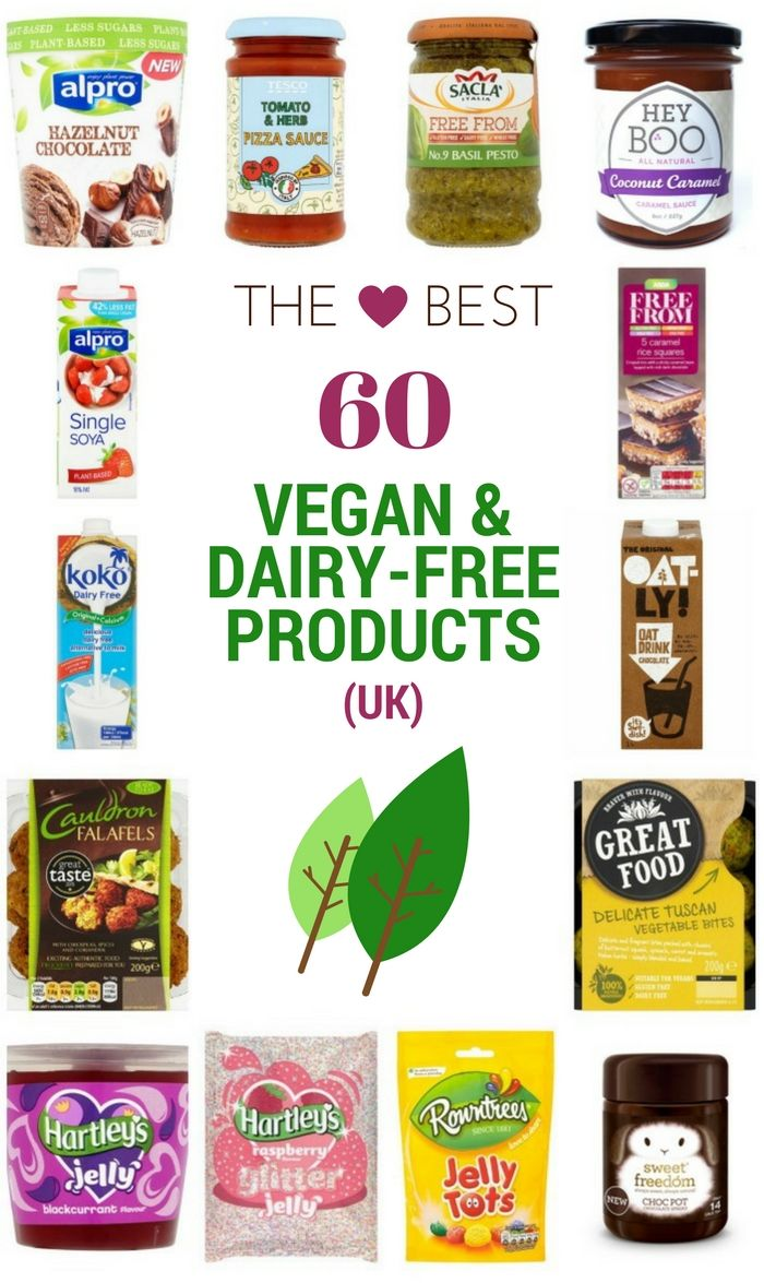 Every vegan should read this guide. 60 of the best vegan products available to buy in the UK from dairy alternatives, to meal ideas, cakes, sweets and crisps.