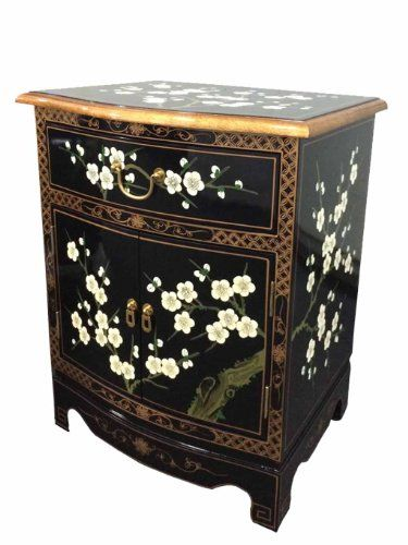 China Warehouse Direct Chinese Oriental Furniture - Blossom Bedside Cabinet/ Lamp Table **Please note that extra delivery charges may apply to Ireland, Highlands and off shore location, please enquire if delivery is to these areas.** (Barcode EAN = 6953454212458). http://www.comparestoreprices.co.uk/december-2016-3/china-warehouse-direct-chinese-oriental-furniture--blossom-bedside-cabinet-lamp-table.asp