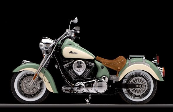 2012 Indian Chief Vintage Motorcycle - 2012?  2012?  This is art.  Manufactured by Polaris Industries now.  Good for them.  And love it: in Spirit Lake.