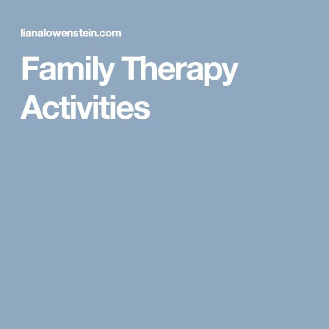 Family Therapy Activities