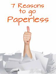 Seven Reasons to Go Paperless - La Vida Frugal