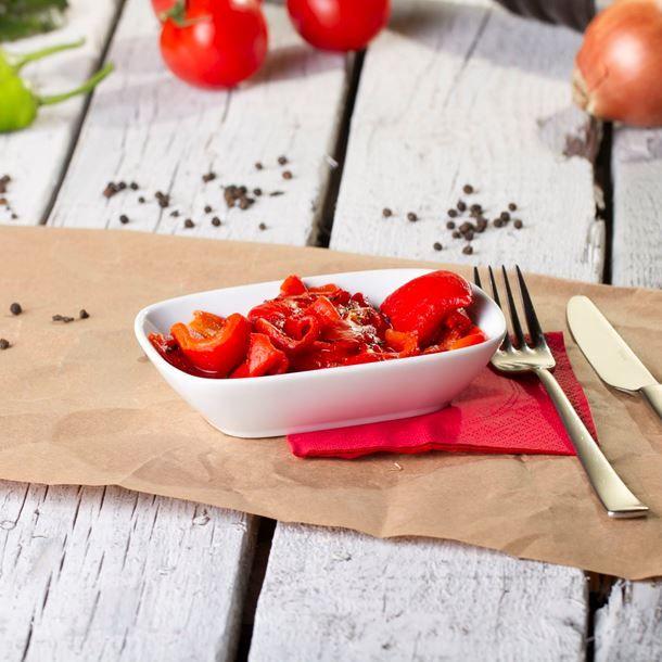 Mini salades de poivron rôti