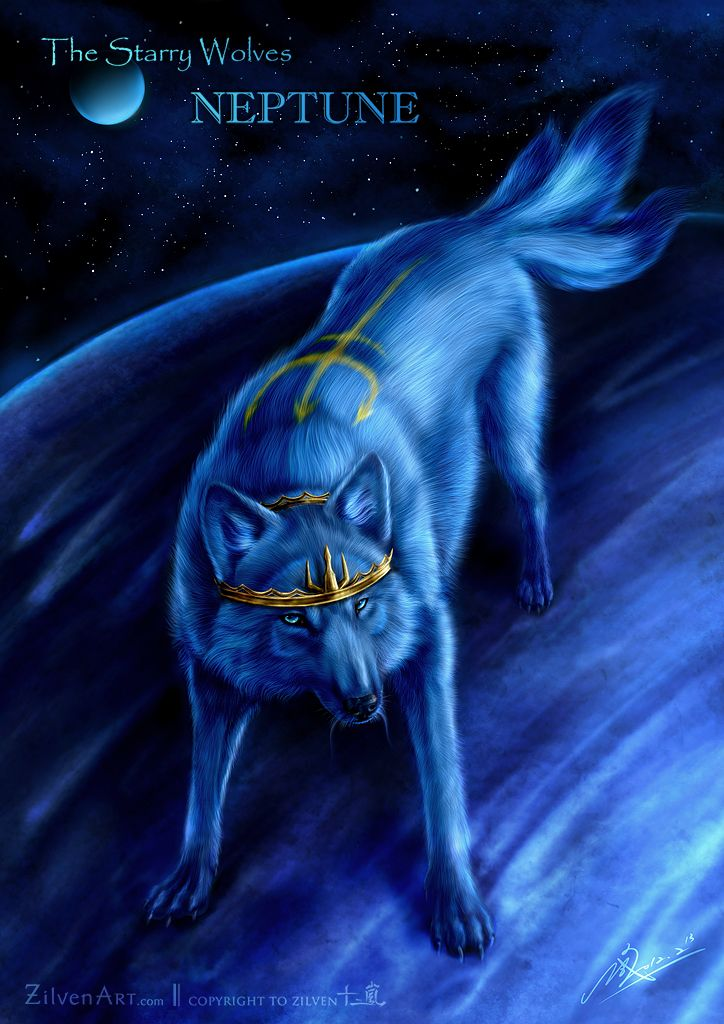 Loup : The Starry Wolves - Neptune by ZilvenArt
