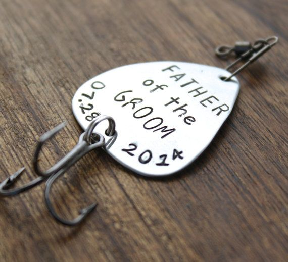 Father of the Groom Fishing Lure Father Gift by sierrametaldesign, $28.00