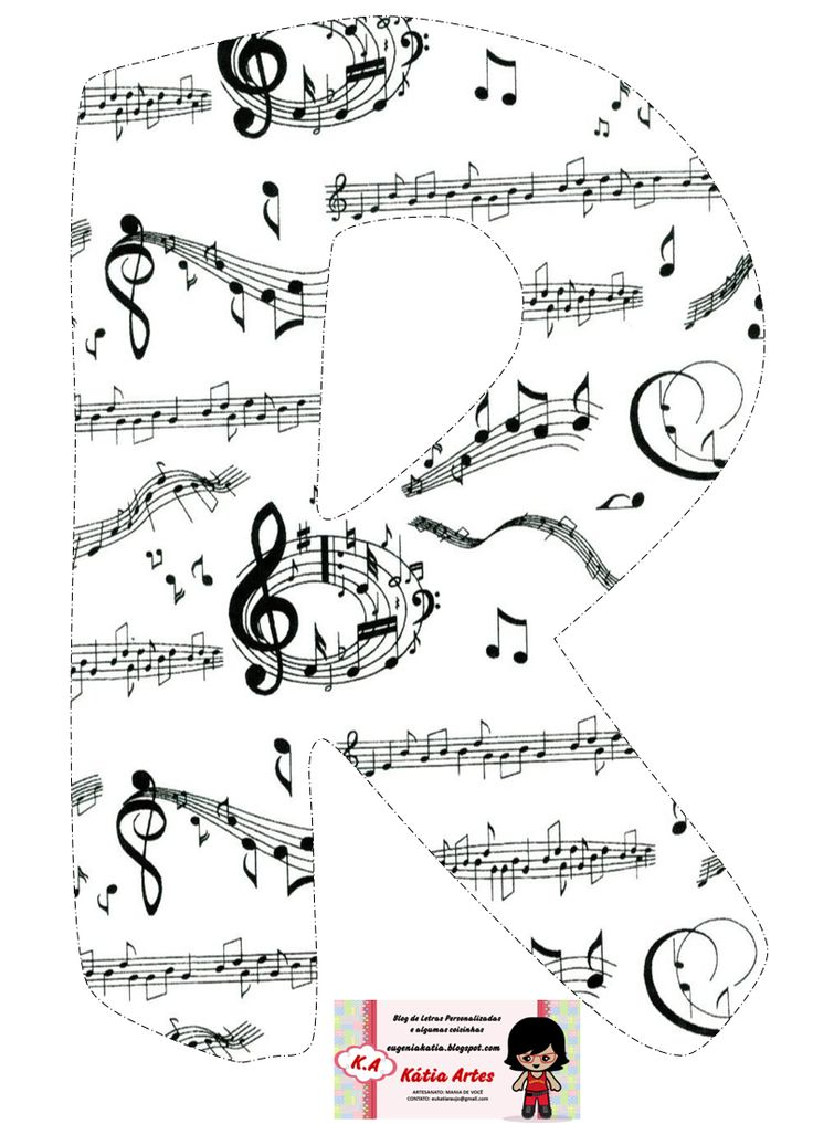 Alfabeto con pentagramas alocados. | Oh my Alfabetos!                                                                                                                                                                                 Más