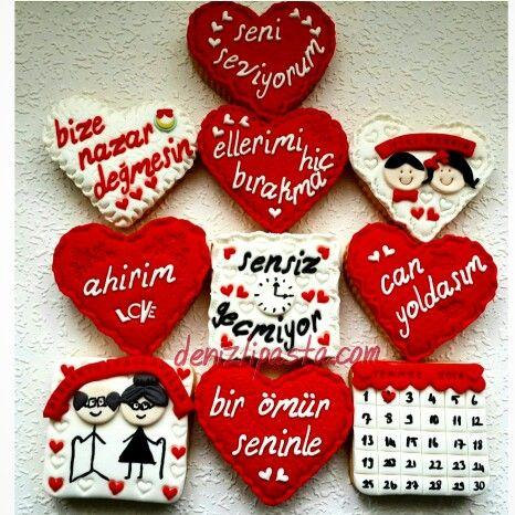 Sevgiliye özel kurabiyeler. www.denizlipasta.com