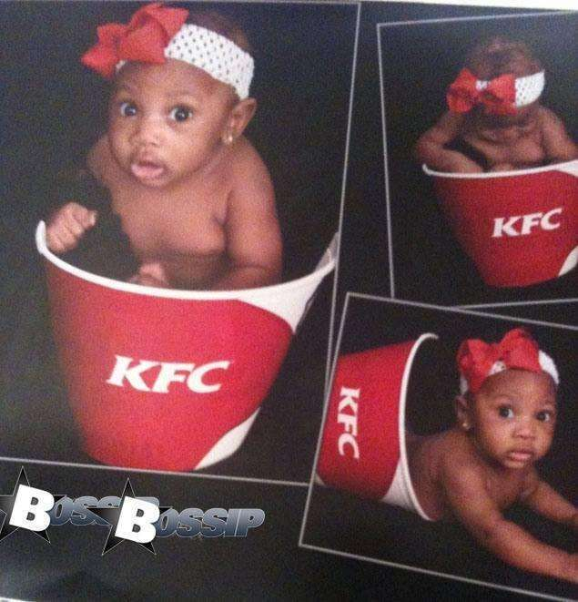 Omg why??? Is this a racist joke? Do the parents love KFC? Do they call her drumstick?? What's the possible reason to do this? There is no logic, it's just ghetto...smh.. 40+ Unbelievable Ghetto Glamour Shots & Trashy Selfies