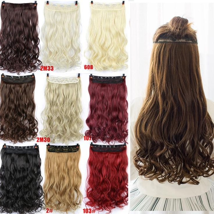 """24 """"Curly 3/4 Full Head Clip in Haarverlängerungen #girls #eyes #design #model #dress #shoes #heels #styles #outfit #purse #jewelry #shopping #glam #fash ..."""