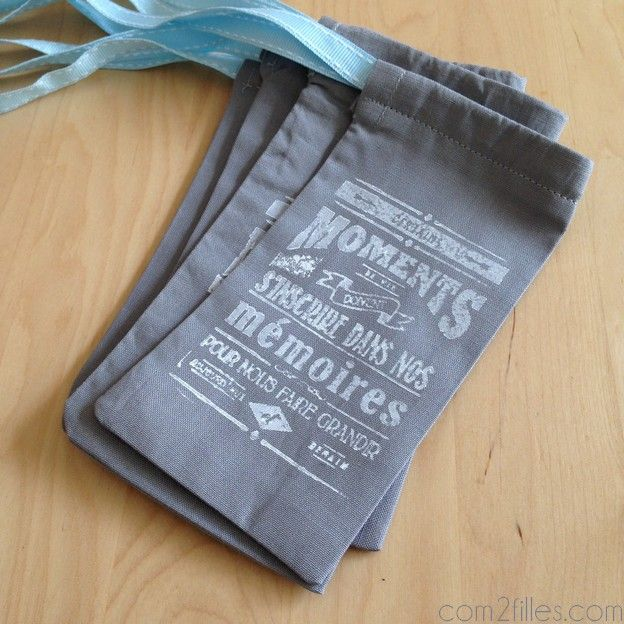 pochette tissu diy - maitresse