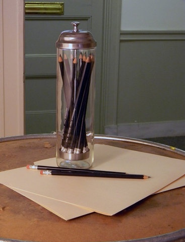 Barbicide Jar/Straw Dispenser for pencils