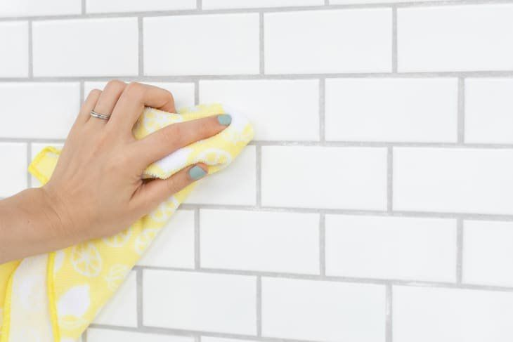 How To Clean A Greasy Tiled Backsplash And Grout Cleaning Grease Best Grout Cleaner Cleaning