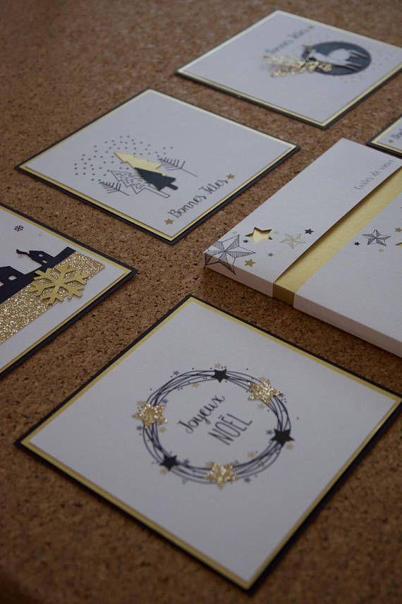 5 Cartes de voeux faites mains dans un style scandinave