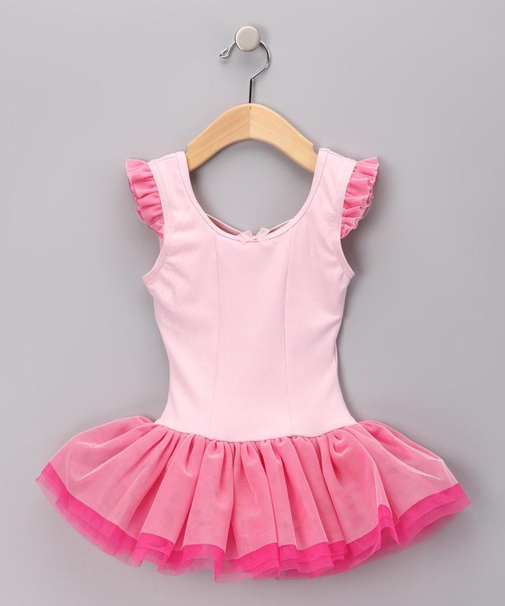 Pink & Fuchsia Skirted Leotard - Toddler & Girls