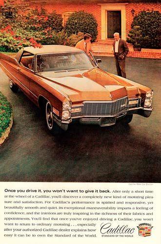 1968 Gold Cadillac