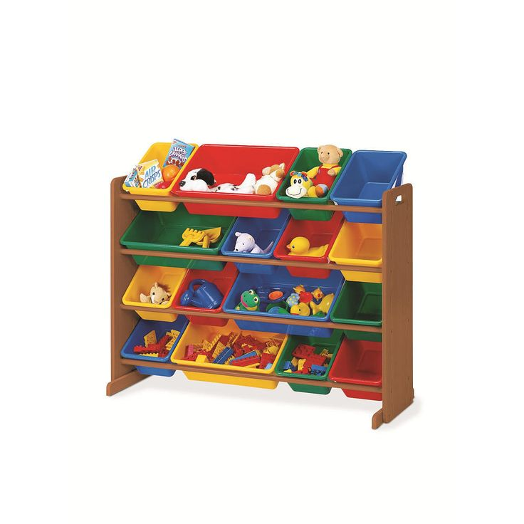 Tot Tutors Dark Pine With Primary Colors Super Sized Organizer From Tot  Tutors   The