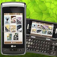 Verizon LG enV Touch VX11000 Black silver QWERTY Cellular Phone FAIR B- Conditio