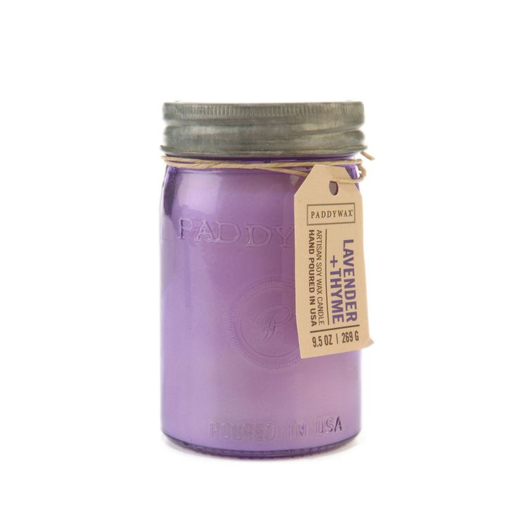 Lavender & Thyme. Shop now at The Candle Library. Paddywax hand pour their candles in the US using 100% soy wax.