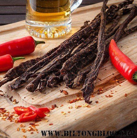 How to make your own delicious spicy biltong chili bites (peri-peri sticks) at home. Easy quick recipe for a South African Favorite!