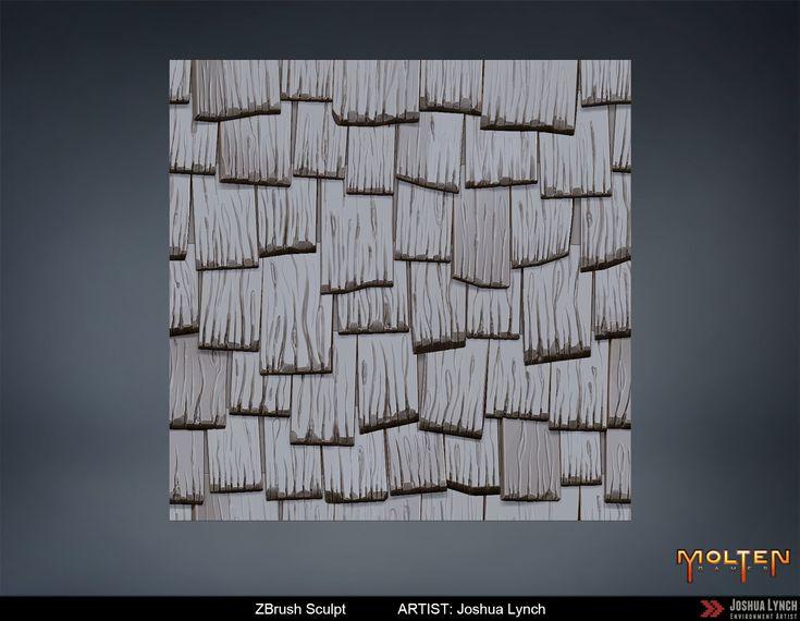 ArtStation - Wood Roofing Texture, Joshua Lynch