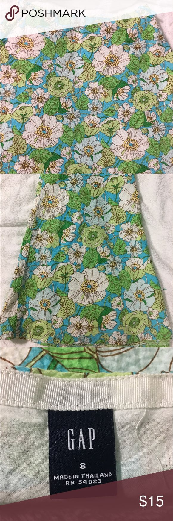 Floral Gap Skirt size M! Beautiful silks floral Skirt! GAP Skirts Midi
