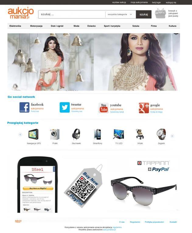 aukcjomania.pl: portal aukcyjny,platforma handlowa