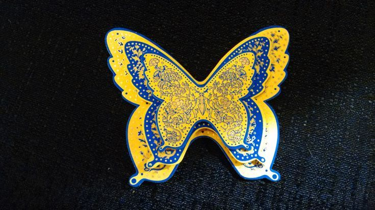 Yellow-Blue Butterfly Trio