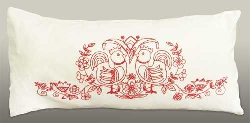 Scandinavian Folklore Pillow Embroidery Kit