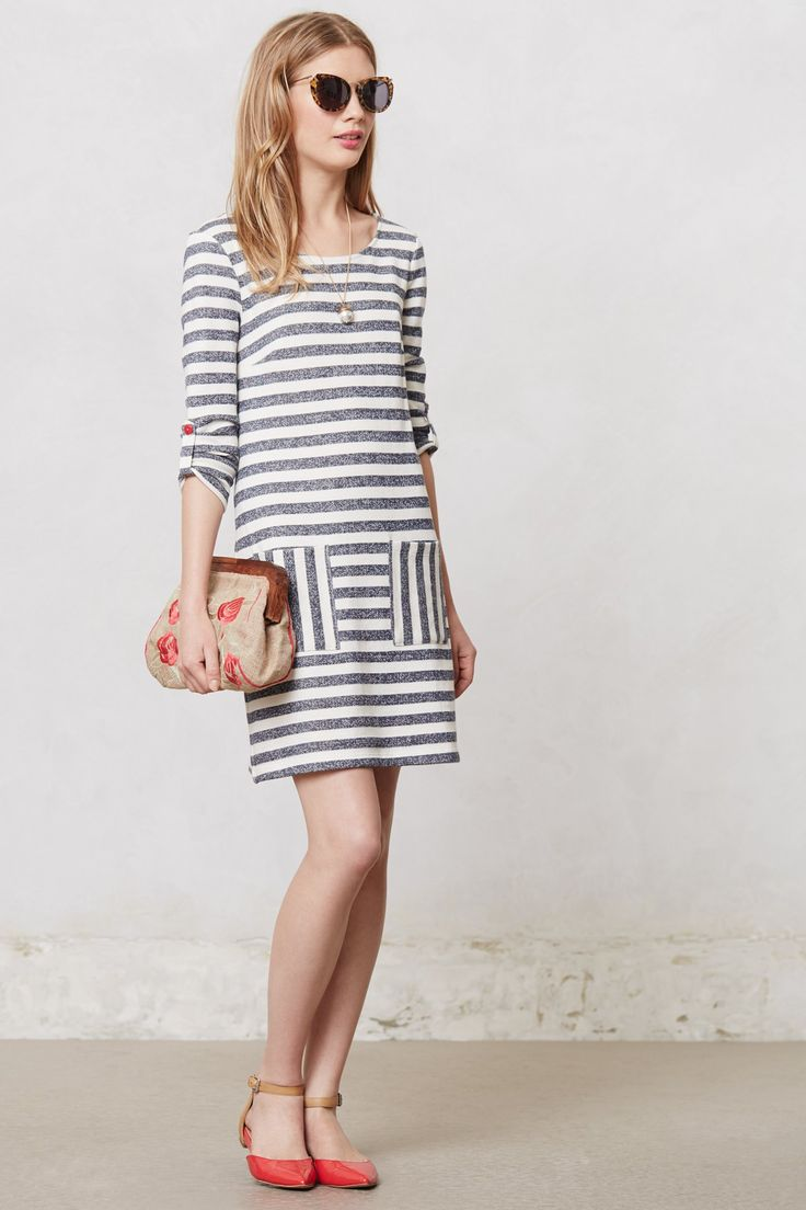 Striped Heather Shift - Anthropologie.com If only just a little longer to the knee