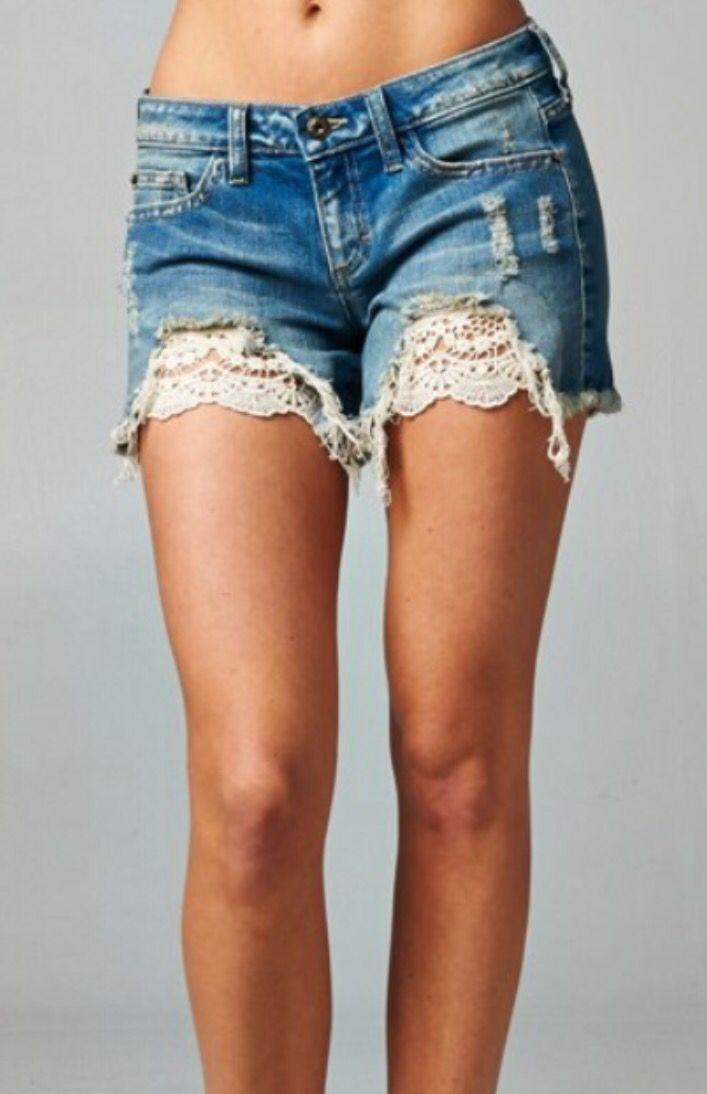 17 Best ideas about Lace Denim Shorts on Pinterest | Lace jean ...