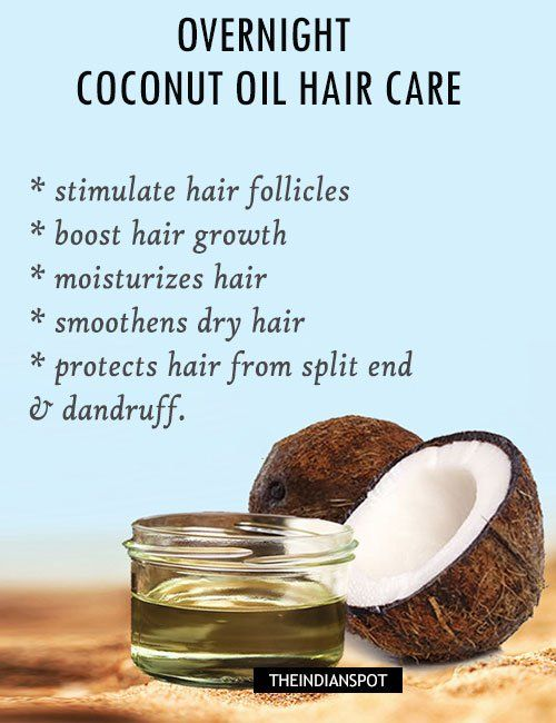 To reverse the damaged, dull hair and treat split ends, all your hair needs is a hot oil treatment and it can be done at home without paying a visit to the spa. The vitamins and essential fatty acids naturally found in coconut oil nourish the scalp and help to remove sebum build-up from hair follicles. Coconut oil is rich in antioxidants, and has antiviral, antifungal, and antibacterial properties. It helps improve the scalp health and supports hair growth.  Benefits of Coconut Oil for hair…