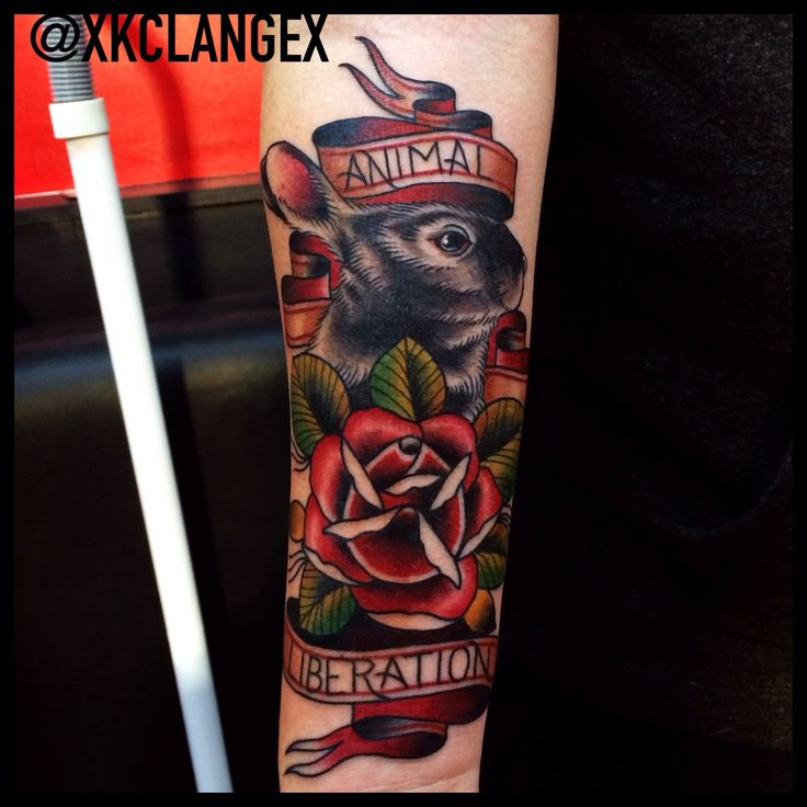 Xkclangex tattoo by kc lange kindness tattoos for Animal activist tattoos