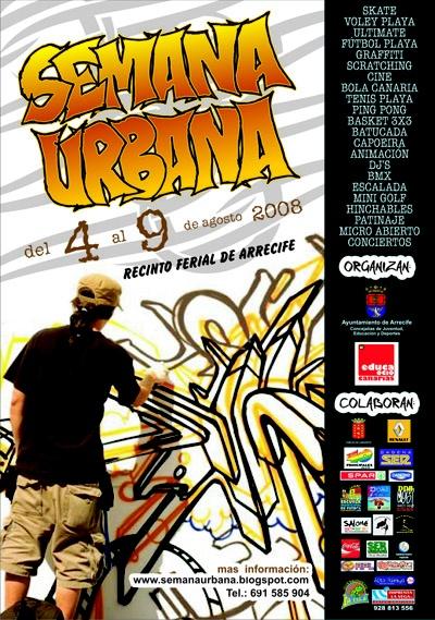 Cartel Semana Urbana 2008