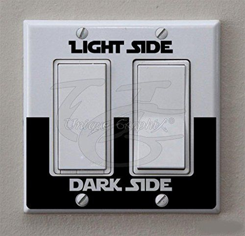 Star Wars Inspired Light Side Double Wide Decorative Light Switch Decals Set of 2 *** Be sure to check out this awesome product.
