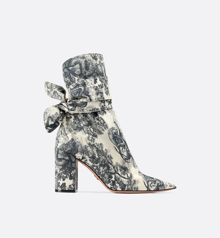 Dior Huggy ankle boot in Toile de Jouy