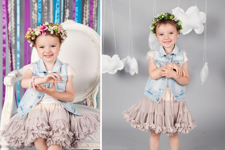 Tutu Pettit Skirt Love & Joy beż 0-2lata - Ubranka na chrzest - Abrakadabra Sklep