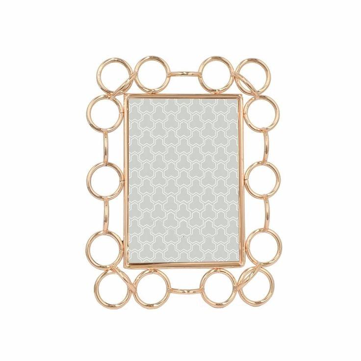 Stylish Metal Photo Frame 4 X 6- Copper- Benzara, Brown, Size 4x6