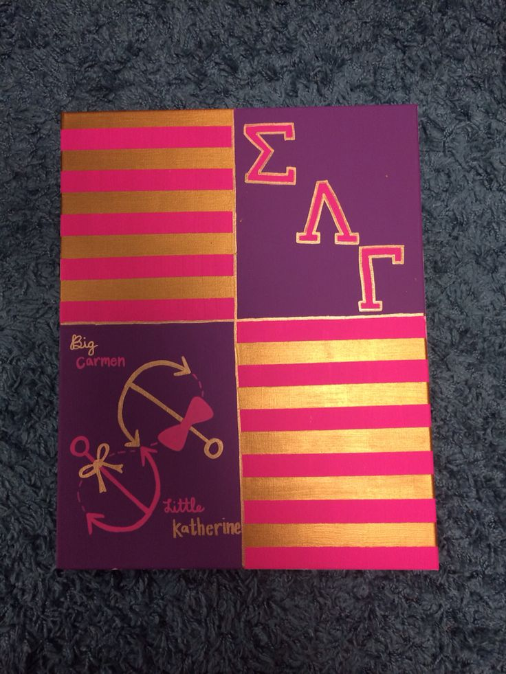 Sigma Lambda Gamma Canvas, Big/Little