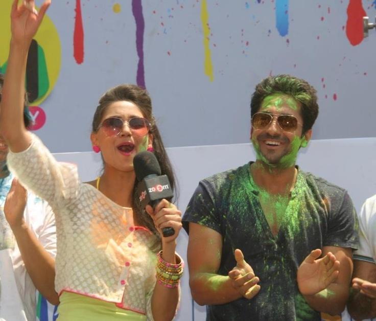 Ayushmann Khurrana with Social Jockey Nikita Dutta