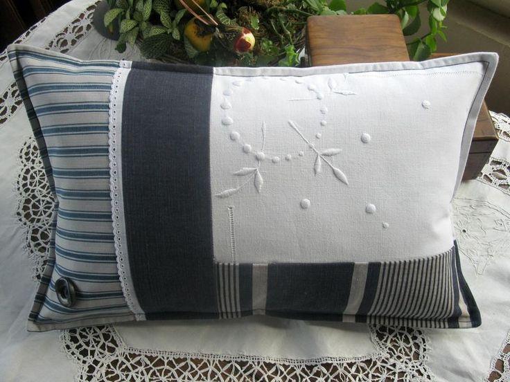 les 25 meilleures id es concernant oreillers brod s sur pinterest points de broderie la main. Black Bedroom Furniture Sets. Home Design Ideas