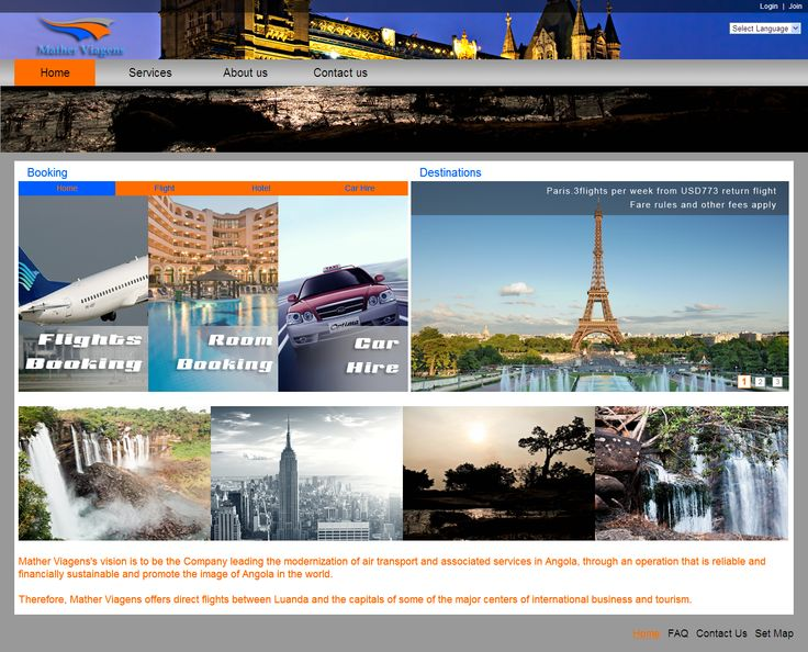 Nice Travel agency website from isoftvalley.com