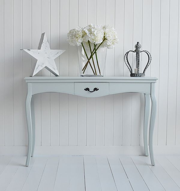 Large Pebble Grey console table
