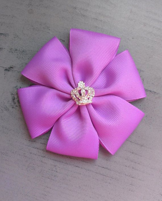 Orchid Purple Petal Hair Bow Clip With by MissNJessDesigns on Etsy