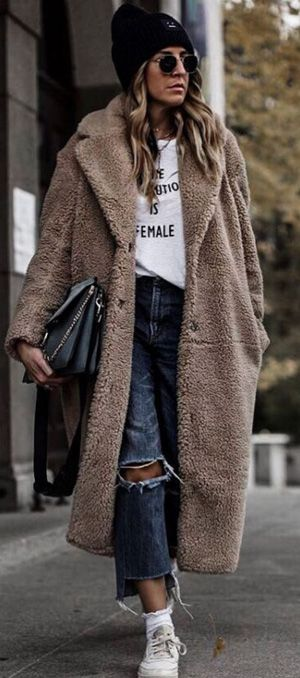 30f60e70fb8 30+ street style winter outfit ideas 2018 for ladies  girly  fashion  girl   model  beauty  cute  beautiful  stylish  pretty  dress  outfit  fashion ...